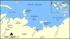 Laptev Sea Map