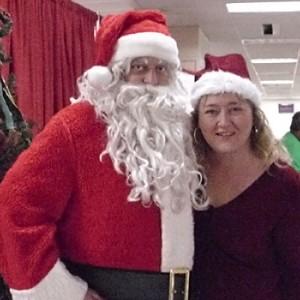 Santa and Elf Miriam